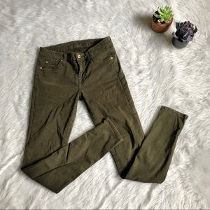 7 For All Mankind Green Skinny